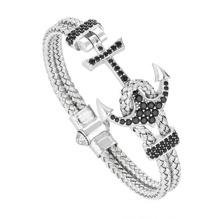 Anchor Metal Braided Bracelet