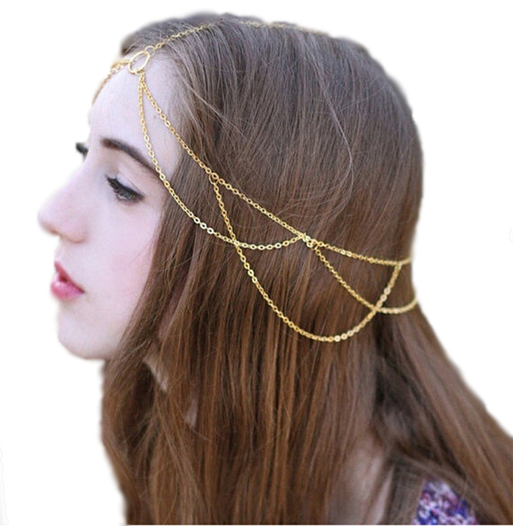 Greek Goddess Crown Chain Head Chain Hair Accessory