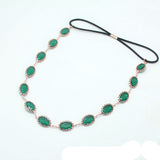 Green Stone of Garden Head Chain Band