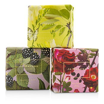 Jo Malone Soap Coffret English Pear & Fressia / Blackberry & Bay / Red Roses