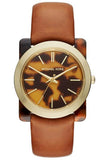 Michael Kors Women's Kempton Tortoises Dial Tan Leather Strap Watch 35mm MK2484