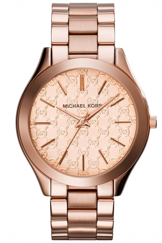 Michael Kors Women's Slim Runway Rose Gold-Tone SS Watch 42mm MK3336