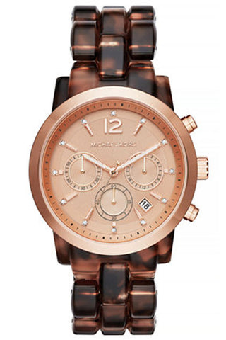 Michael Kors Mercer Chronograph Rose Gold-Tone Watch 41mm MK5727