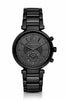 Michael Kors Women's Sawyer Black-Tone Glitz Dial Watch 39mm MK6297
