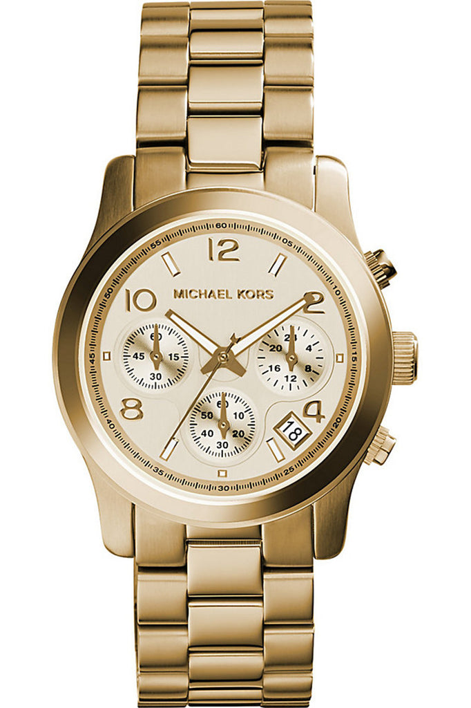 f2e16c582178 Michael Kors Women s Runway Chronograph Gold-Tone SS Watch 38mm MK5055 –  Hypnotique