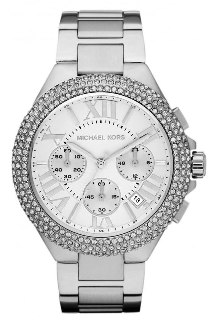 Michael Kors Women's Camille Chronograph SS Bracelet Watch 43mm MK5634