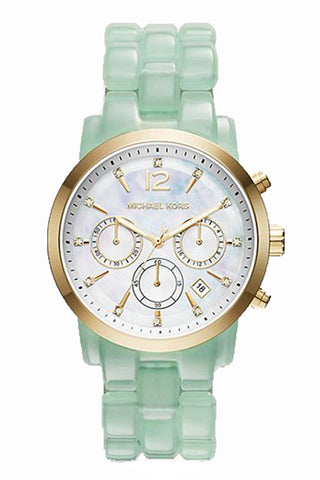 Michael Kors Women's Blair Chronograph Tortoise Rose Gold-Tone SS Watch 39mm MK5859
