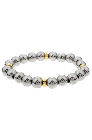 Mister Royal Plus Bead Bracelet - Chrome & Gold - Mister SFC