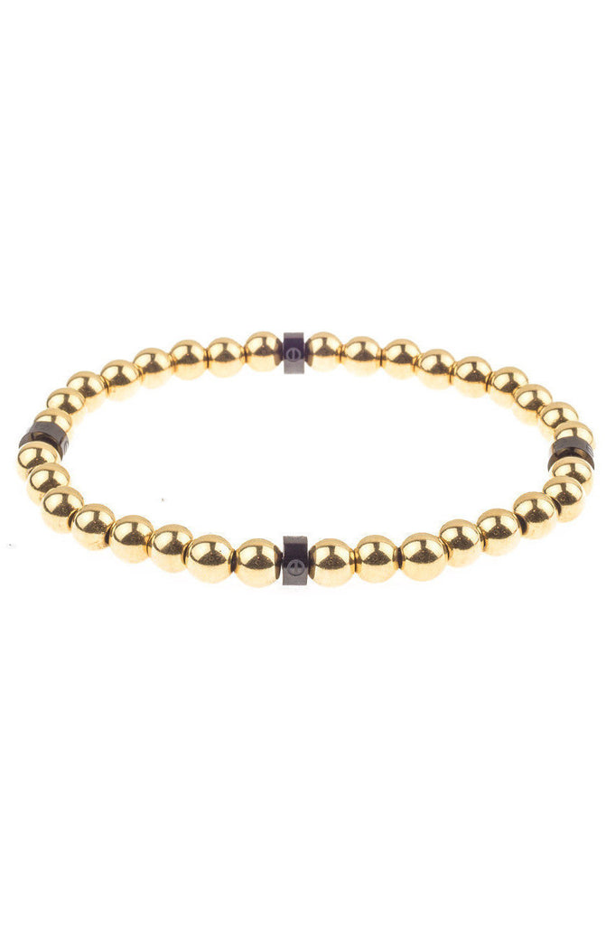 Mister Royal Bead Bracelet - Gold & Black - Mister SFC