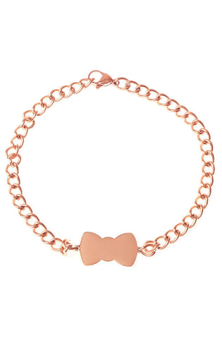 Mister Bow Dog Collar - Rose Gold - Mister SFC - 1