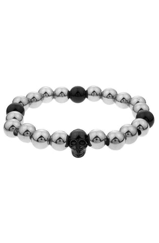 Mister Annum Plus Bead Bracelet - Chrome & Black - Mister SFC