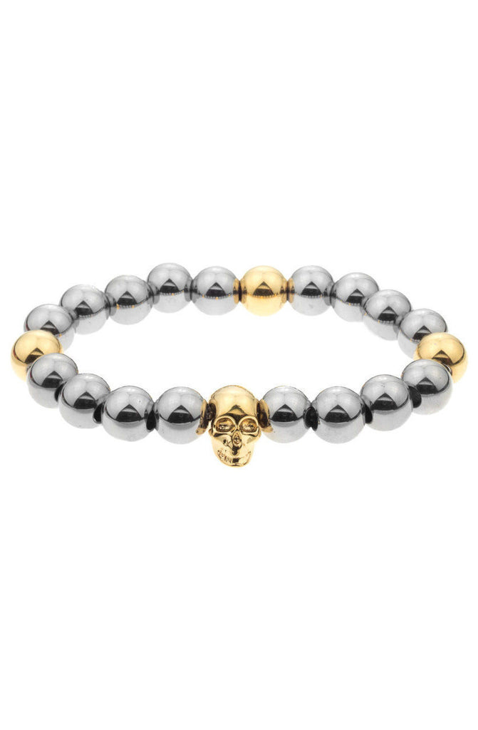 Mister Annum Plus Bead Bracelet - Chrome & Gold - Mister SFC