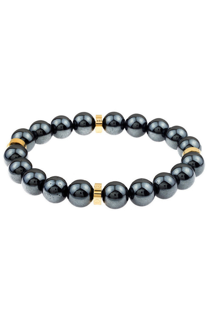 Mister Royal Plus Bead Bracelet - Gunmetal & Gold - Mister SFC - 1