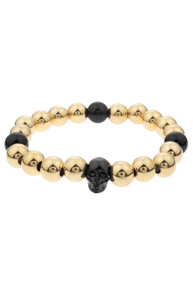Mister Annum Plus Bead Bracelet - Gold & Black - Mister SFC