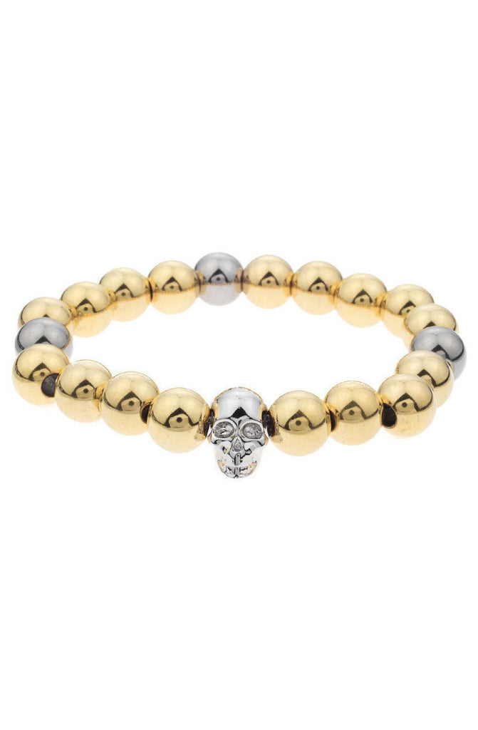 Mister Annum Plus Bead Bracelet - Gold & Chrome - Mister SFC