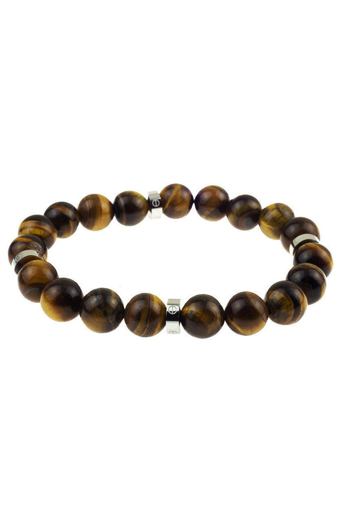 Mister Royal Plus Bead Bracelet - Tiger & Chrome - Mister SFC