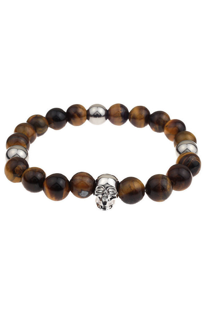 Mister Annum Plus Bead Bracelet - Tiger & Chrome - Mister SFC