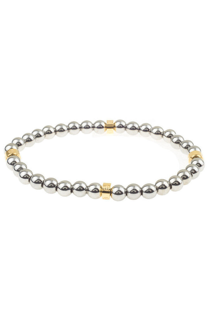 Mister Royal Bead Bracelet - Chrome & Gold - Mister SFC