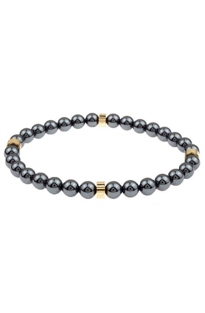 Mister Royal Bead Bracelet - Gunmetal & Gold - Mister SFC