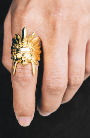 *Mister  Indian Chief Ring - Gold - Mister SFC - 2
