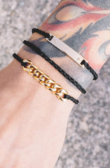 Mister Essence Bracelet - Black & Gold