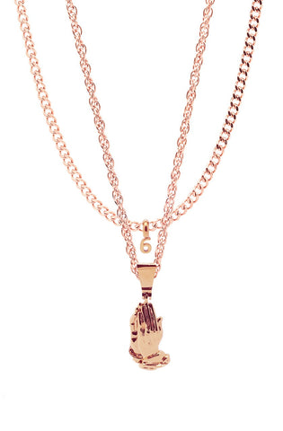 Mister  Pray Necklace - Rose Gold - Mister SFC