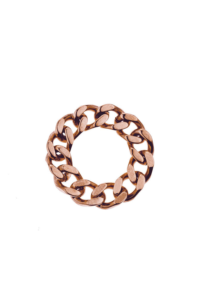 Mister  Curb Ring - Rose Gold