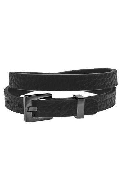 Mister Theory Leather Bracelet V2 - Black-ACCESSORIES,FOR HER-Mister SFC