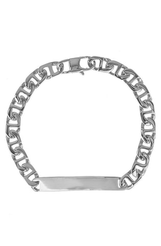 Mister Emblem Bracelet - Chrome-ACCESSORIES,FOR HER-Mister SFC
