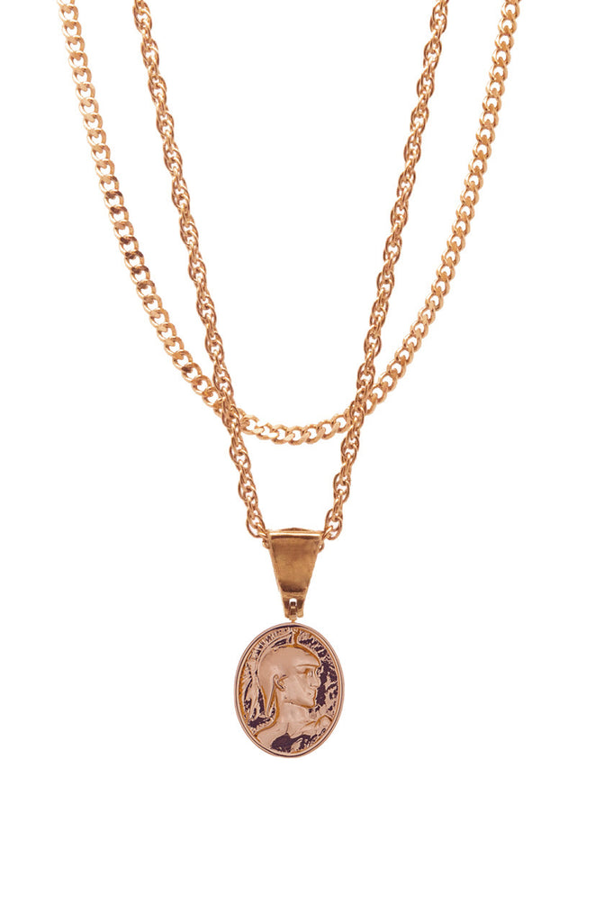 Mister  Gladiator Necklace - Rose Gold