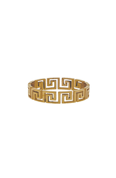 Mister Greek Cut Out Ring - Gold