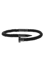Mister Nail Leather Bracelet - Black