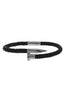 Image of Mister Nail Leather Bracelet - Black & Chrome