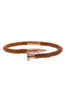 Image of Mister Nail Leather Bracelet - Caramel & Rose Gold