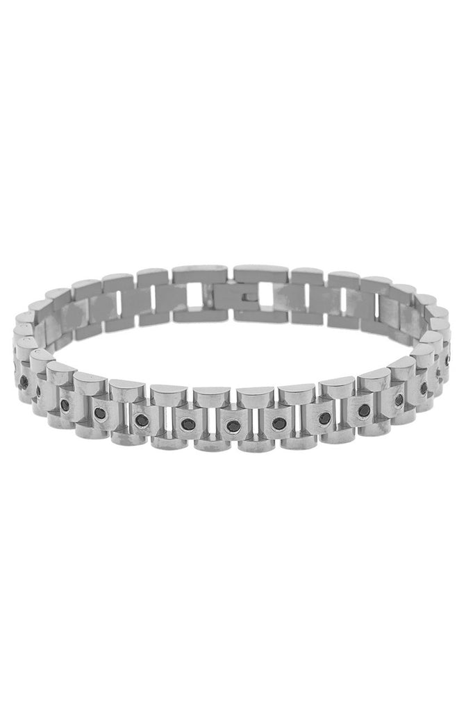 Mister  Lynx Bracelet - Chrome & Black