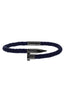 Image of Mister Nail Leather Bracelet - Dark Navy