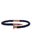 Image of Mister Nail Leather Bracelet - Dark Navy & Rose Gold