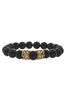 Image of Mister Queen Bead Bracelet - Onyx & Gold