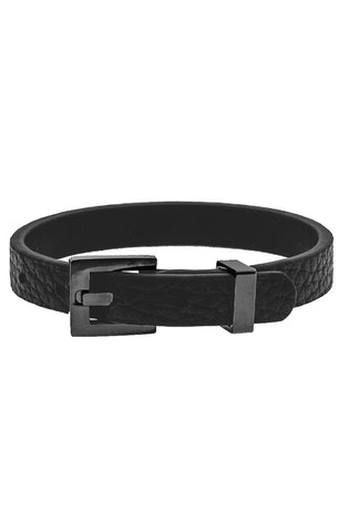 Mister Theory Leather Bracelet - Black-ACCESSORIES,FOR HER-Mister SFC