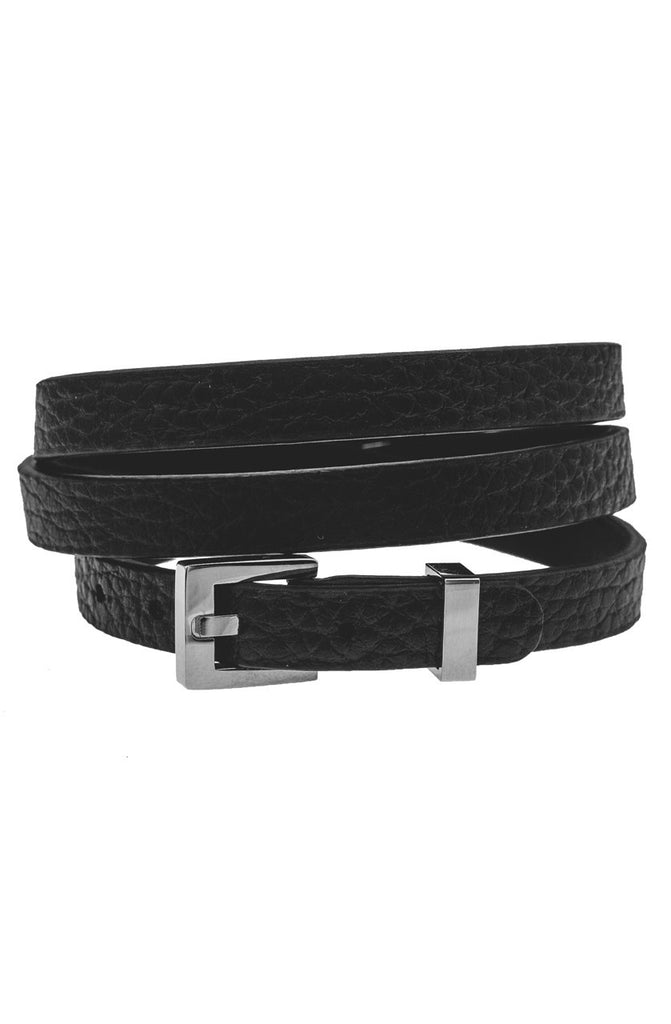 Mister Theory Leather Bracelet V3 - Black & Chrome-ACCESSORIES,FOR HER-Mister SFC