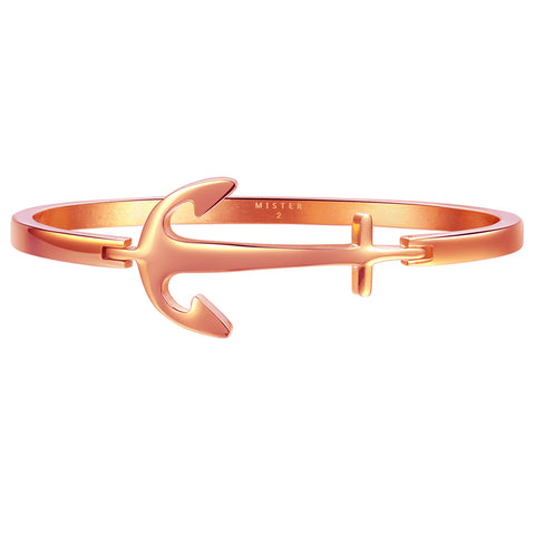 *Mister Axle Anchor Bracelet - Rose Gold