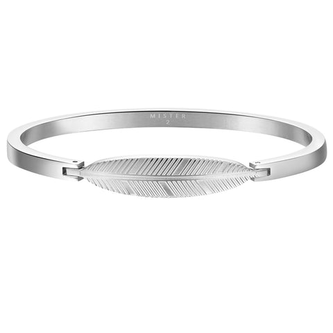 *Mister Axle Feather Bracelet - Chrome (XS)