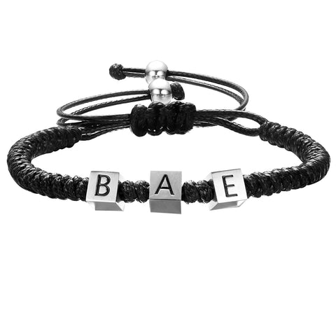 Mister Bae Bead Bracelet - Black & Chrome