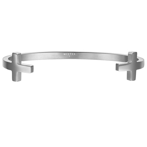*Mister Double Cross Cuff Bracelet - Chrome