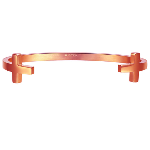 *Mister Double Cross Cuff Bracelet - Rose Gold