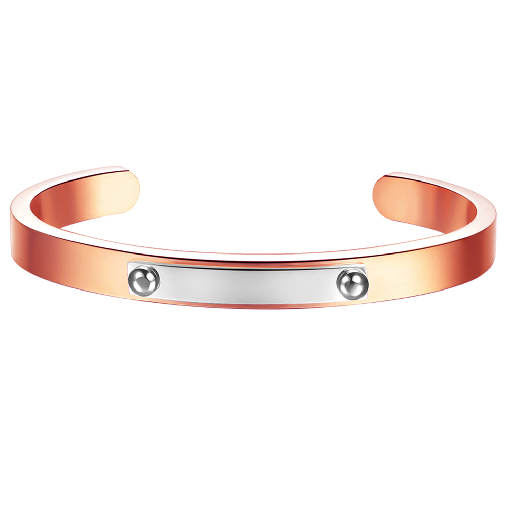 *Mister Triaxle Cuff Bracelet - Rose Gold & Chrome
