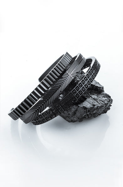 *Mister Feather Cuff Bracelet - Black - Mister SFC - 3