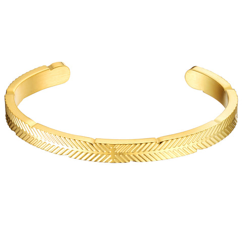 *Mister Feather Cuff Bracelet - Gold (XS)