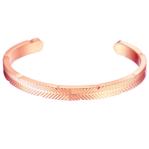 *Mister Feather Cuff Bracelet - Rose Gold