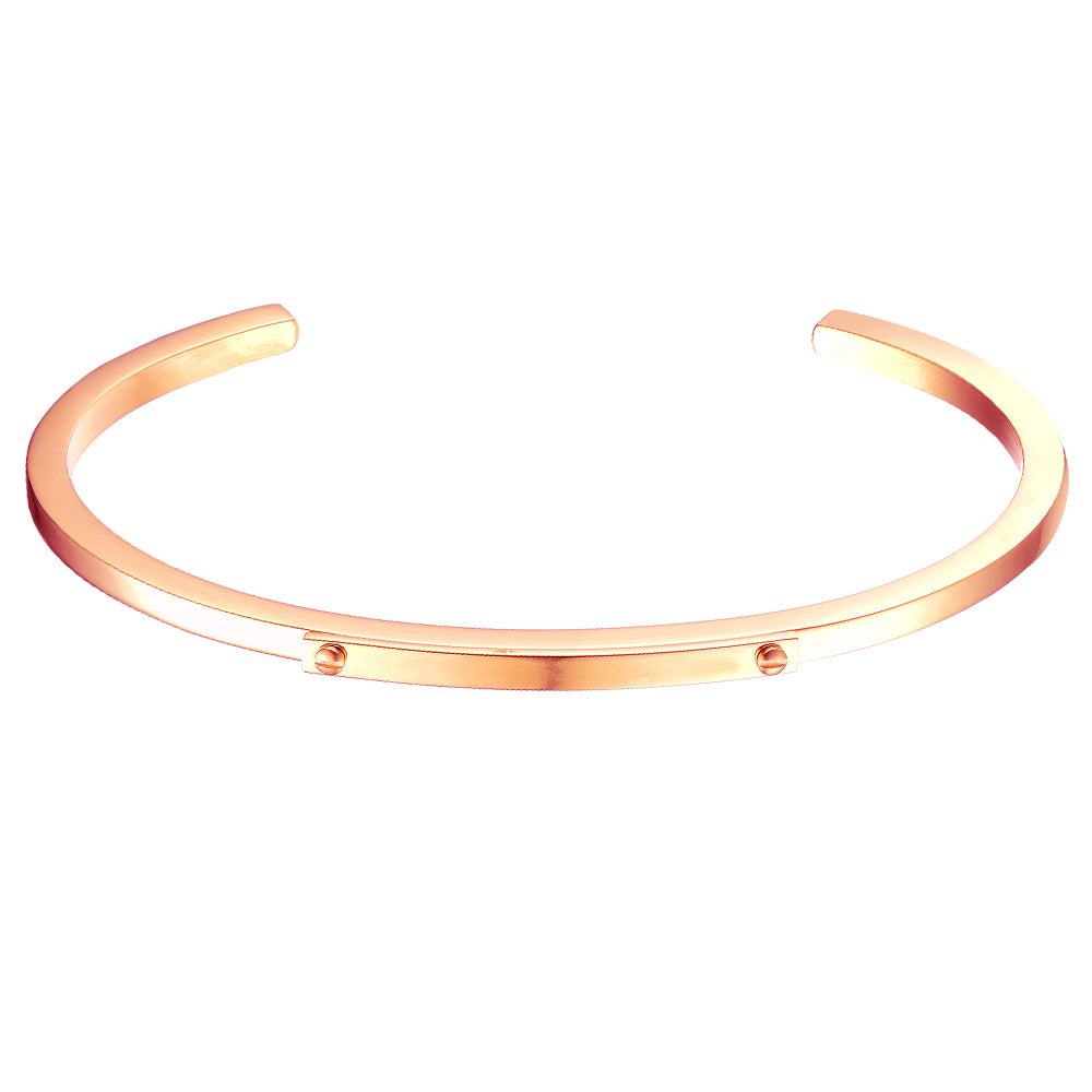*Mister Level ID Cuff Bracelet - Rose Gold